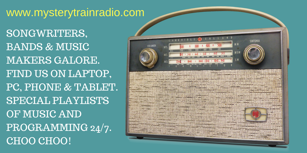 SONGWRITERS, BANDS & MUSIC MAKERS GALORE. FIND US ON LAPTOP, PC, PHONE & TABLET. SPECIAL PLAYLISTS OF MUSIC AND PROGRAMMING 24%2F7. CHOO CHOO! (1)